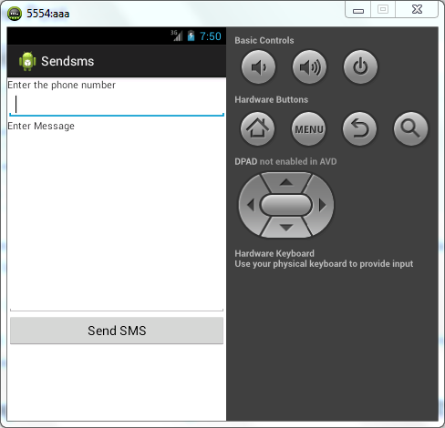 Android Tutorial Send Text Sms Example Youthgiri Com