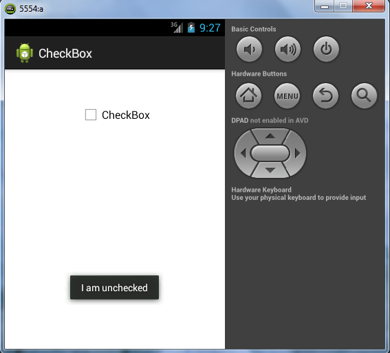 Android Tutorial – Example of Using CheckBox button