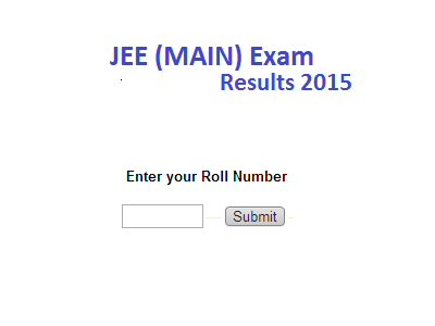 JEE MAIN 2015 Exam Rank Declared