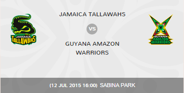 CPLT20 2015 JT vs GAW Match Highlights Result Score Board