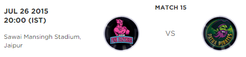 PKL 2015 Jaipur Pink Panthers vs Patna Pirates Match Highlights Result Score