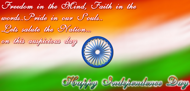 happy independence day 15th august one single line