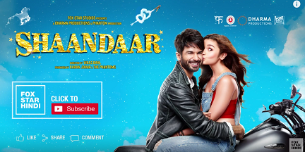 Alia Bhatt Shahid Kapoor Shaandaar World TV Premier on Rishtey Date & Timing 13th December at 6 Pm