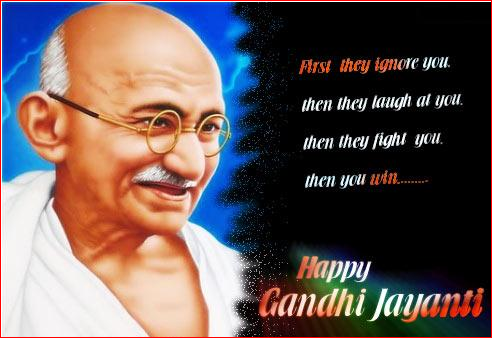Happy Gandhi Jayanti 2nd October Facebook Whatsapp Pics Photos DP Status Quotes Messages 2