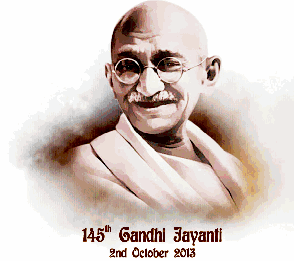 Happy Gandhi Jayanti 2nd October Facebook Whatsapp Pics Photos DP Status Quotes Messages 3