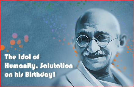 Happy Gandhi Jayanti 2nd October Facebook Whatsapp Pics Photos DP Status Quotes Messages 5