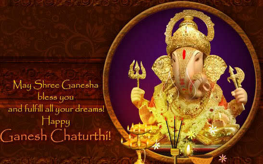 Happy Ganesh Chaturthi Facebook Whatsapp Pics Photos DP Status Quotes Messages 1