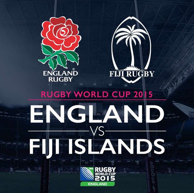 Rugby World Cup RWC 2015 England vs Fiji Pool A Match 1 Live Score Result Team Squad