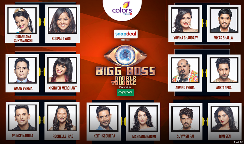 Bigg Boss 9 Double Trouble All Contestant Jodi Names List #doubletroublejodi