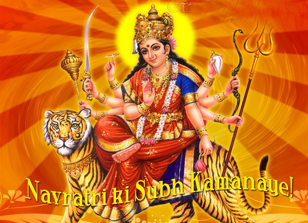 Happy Navratri Ambe Mata Devi Wishes Animated Images Wallpapers  3