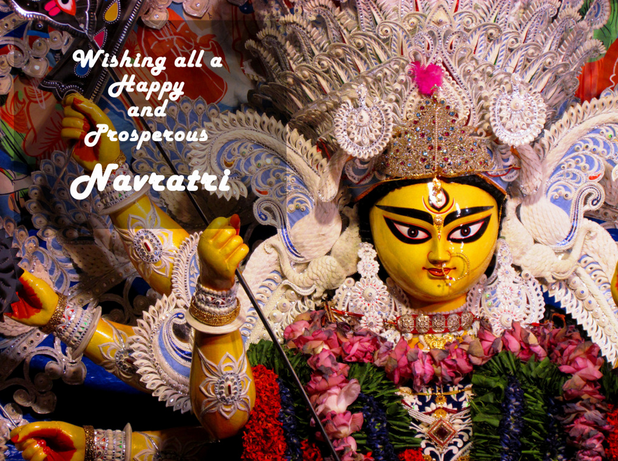 Happy Navratri Ambe Mata Devi Wishes Animated Images Wallpapers 4