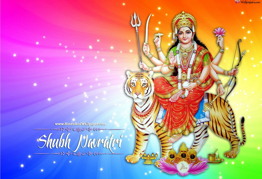 Happy Navratri Durga Maa Mata Devi Wishes Animated Images Wallpapers