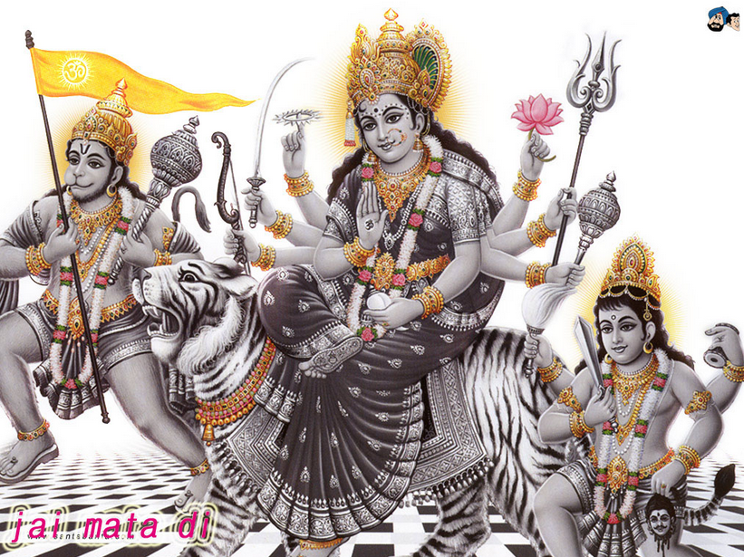 Happy Navratri Vaishno Maa Mata Devi Wishes Animated Images Wallpapers