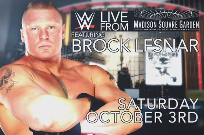 WWE MSG 3 October 2015 Big Show vs Brock Lesnar Fight Match live Details Result