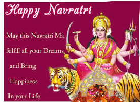 Happy Navratri 2015 Wishes  Messages Whatsapp Fb Status in Hindi English