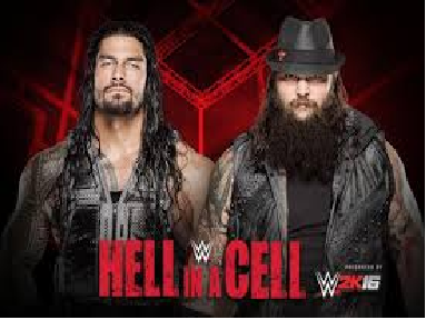 "WWE "" Hell in a Cell"" 2015 Live Roman Reigns Vs. Bray Wyatt Fight Match October 2015"