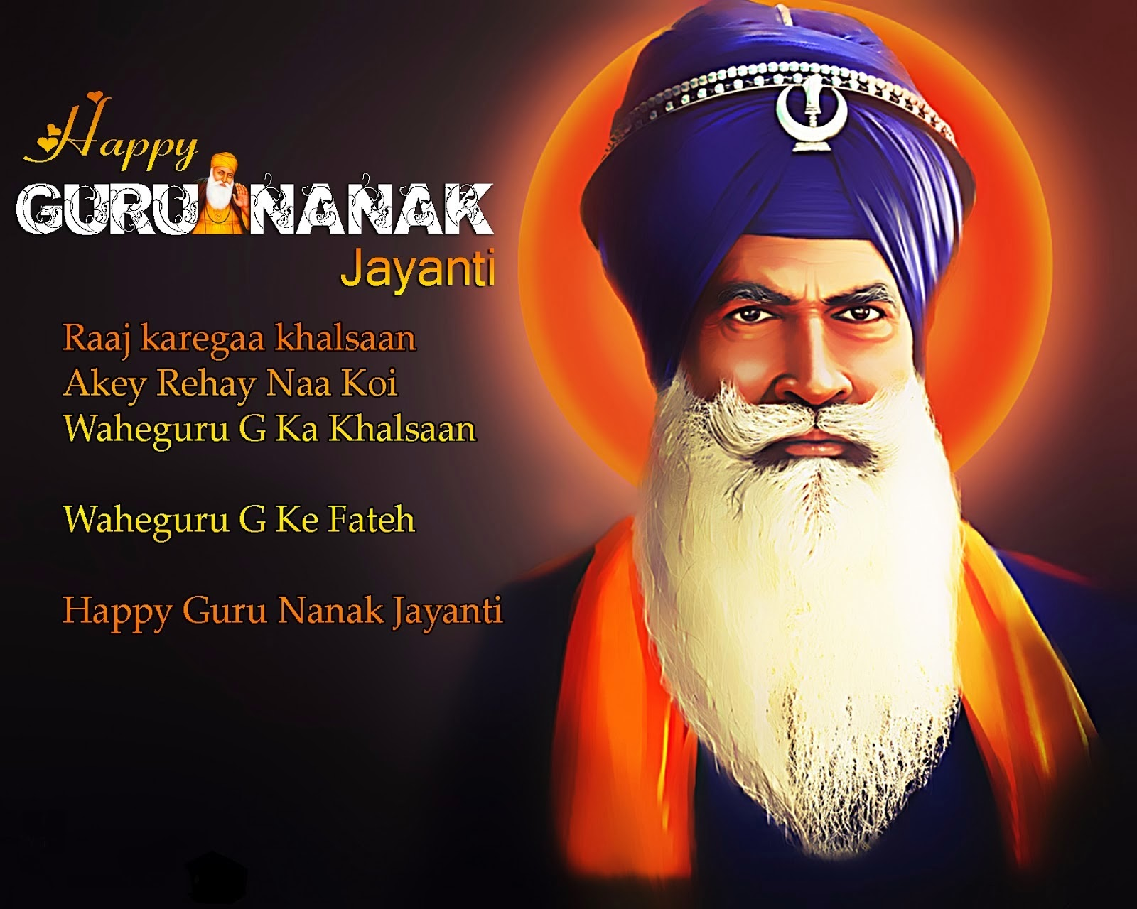 Guru Nanak jayanti Gurupurab Greetings Sms Wishes
