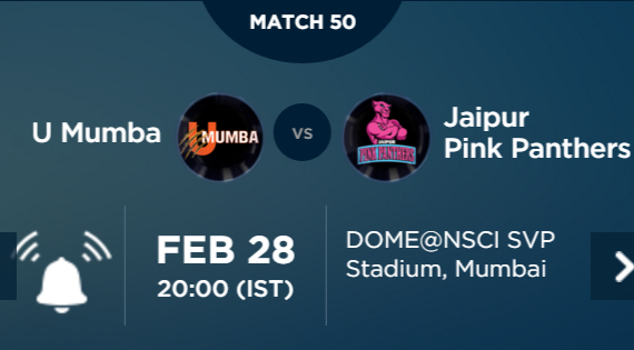 Pro Kabaddi 3 Match 50 Mumbai vs Jaipur Live Highlights Result Score Team Squad