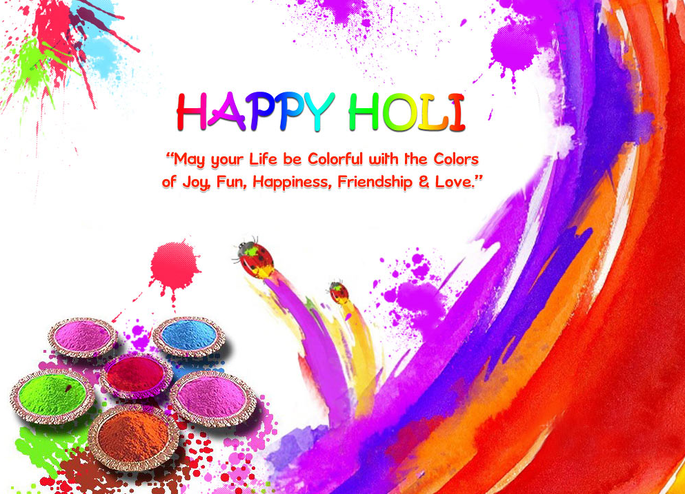 Happy Holi One Single Line Short Status Wishes