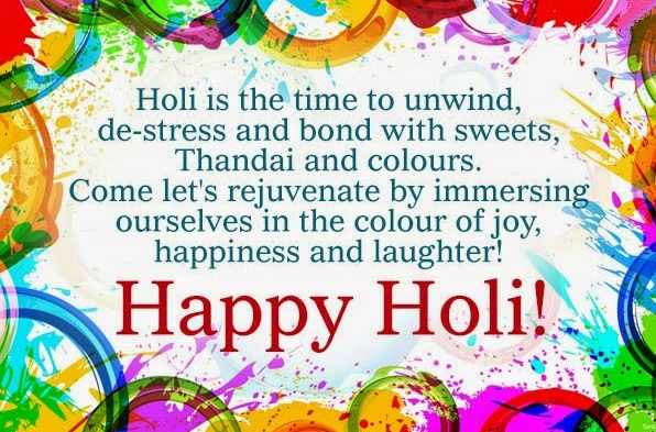 Happy Holi SMS Text Status in Hindi English