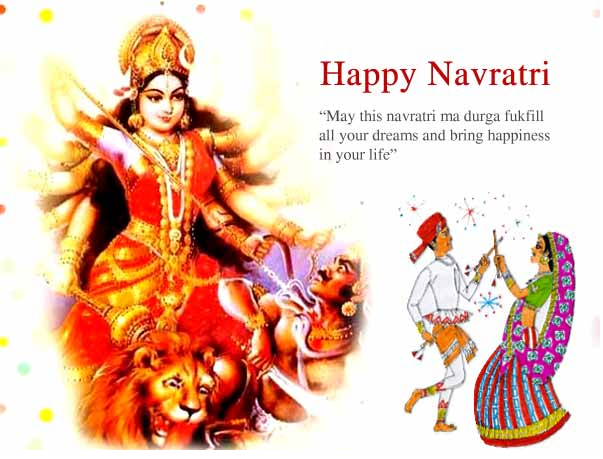Happy Navratri Wishes One Single Line Short Status Whatsapp Facebook Twitter