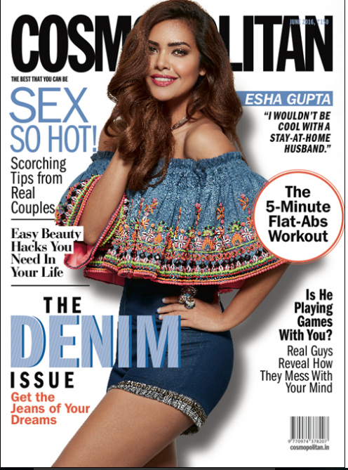 Esha Gupta Looks Stunning on the Cover of Cosmopolitan Magazine