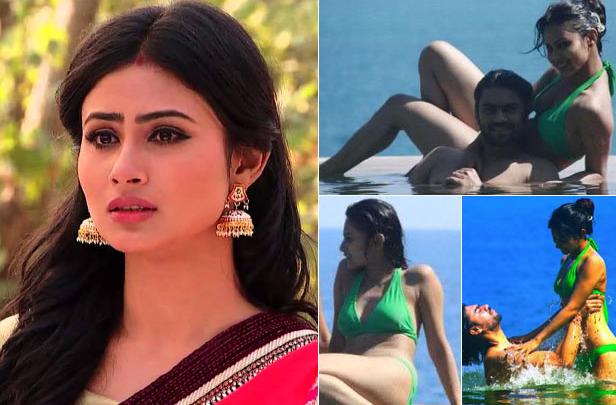 Mouni Roy Hot Unseen Beach Bikini Photos Images 5