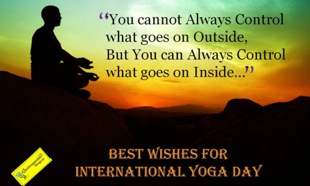 Yoga Day Motivational Quotes In Hindi English
