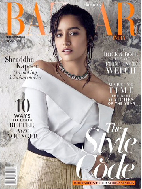 Shraddha Kapoor Sizzles on the cover of Harper's Bazaar Magazine