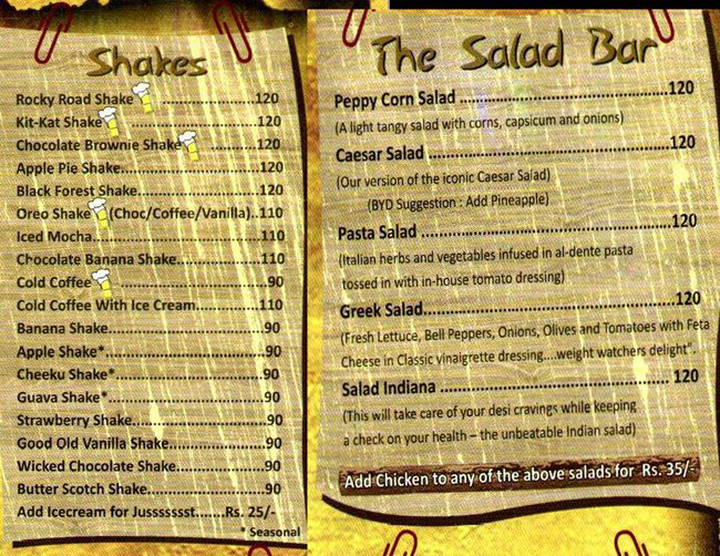 Hit It Here Cafe Menu