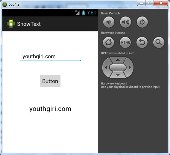 Android Tutorial – Using EditText, TextView and Button with Example