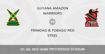 CPLT20 2015 GAW vs TTR Match 31 Highlights Result Score Board