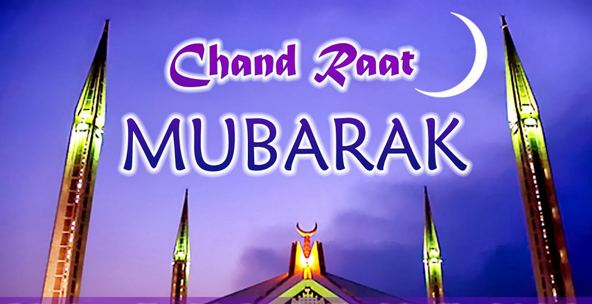 Happy Eid Ka Chand Raat Mubarak Whatsapp Facebook Twitter Status Wishes