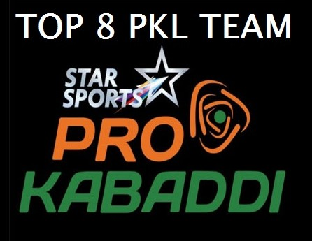 Pro Kabaddi 2015 League Table Points on 27th July