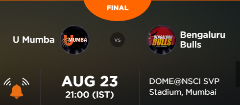 Mumbai won Final over Bengaluru Pro Kabaddi 2015 Match Result Scorecard Match Stats