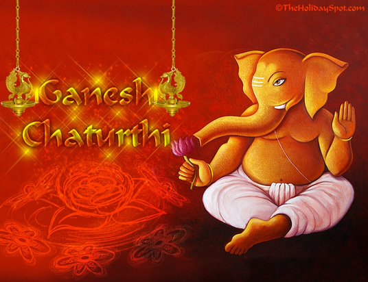 Happy Ganesh Chaturthi One Single Line Whatsapp, Facebook Status