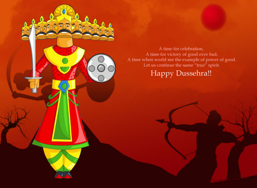Happy Dussehra Navratri 2015 Best Greetings Card Images Wallpapers