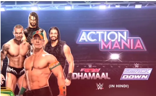 WWE Action Mania On Zee Cinema Telecast on 11th October 2015 on Zee Cinema in Hindi