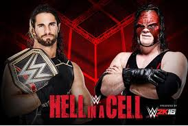 WWE Hell in Cell 2015 Live 26th October 2015 Seth Rollins Vs. Kane Fight Match
