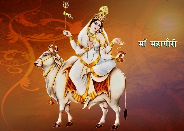 Navratri 2015 : Navratri 20th October 2015 8th Day Puja Timings Fasting Vrat Food & Colors