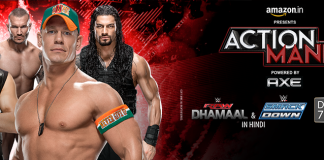 WWE Action Mania Telecast on 10th  October 2015 on Zee Cinema in Hindi