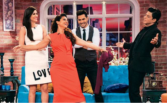 Shahrukh Kajol Varun Kirti Dilwale in CNWK Comedy Nights With Kapil 20th December Full Episode Show HD Video