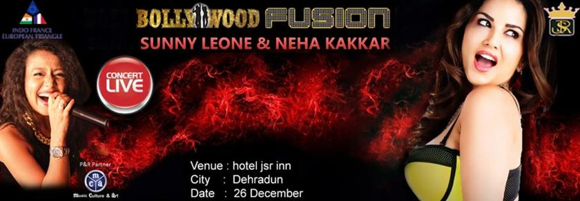 Sunny Leone Neha Kakkar Performance Tonight at JSR Continental Dehradun 26-27 December HD Video