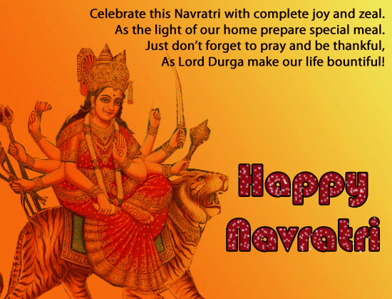Happy Navratri Wishes SMS Messages in Hindi English