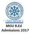MGU Kerala B.Ed Admission 2017 Online Application Form, Imp Dates | mgu.ac.in
