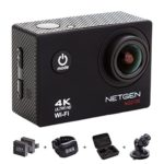 Review – NETGEN Sports Action Camera 16 MP 4k WiFi Ultra HD Waterproof with 25 Accessories including Car Mount, Carry Bag, Control Watch, 2 Batteries